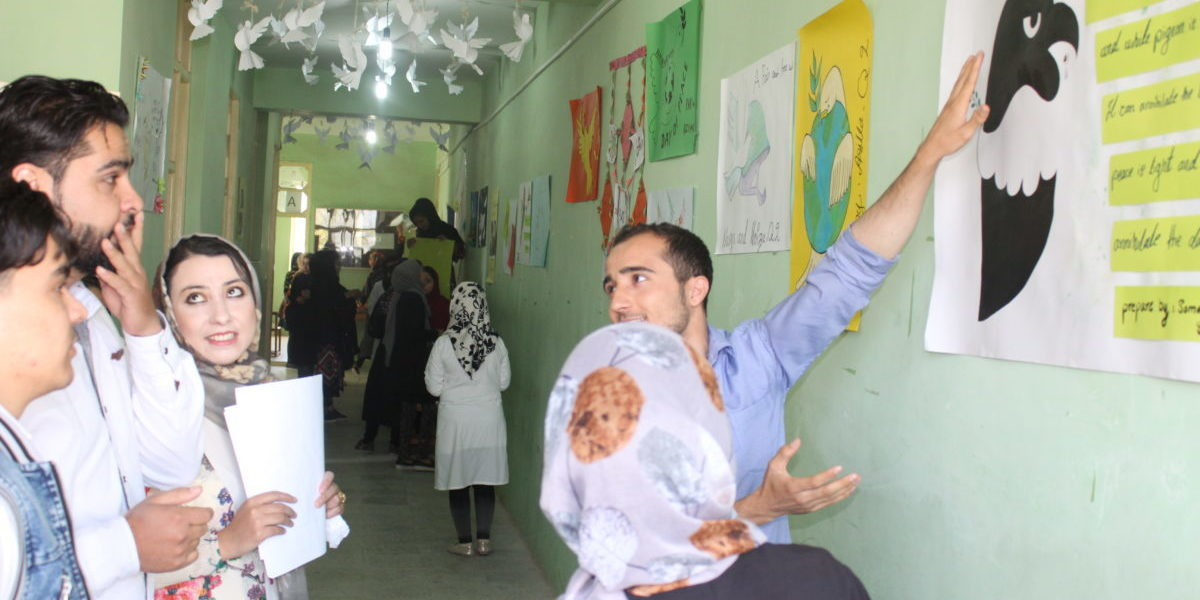 International Peace Day celebrations at the Herat Technical Insitute.