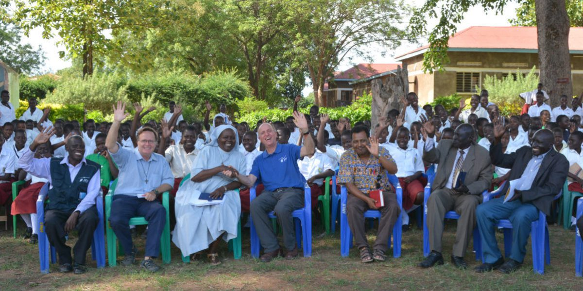 JRS International Director, Fr Thomas H Smolich SJ, visiting St Mary Assumpta where JRS provides different types of support, from scholarships to teacher training and school supplies.