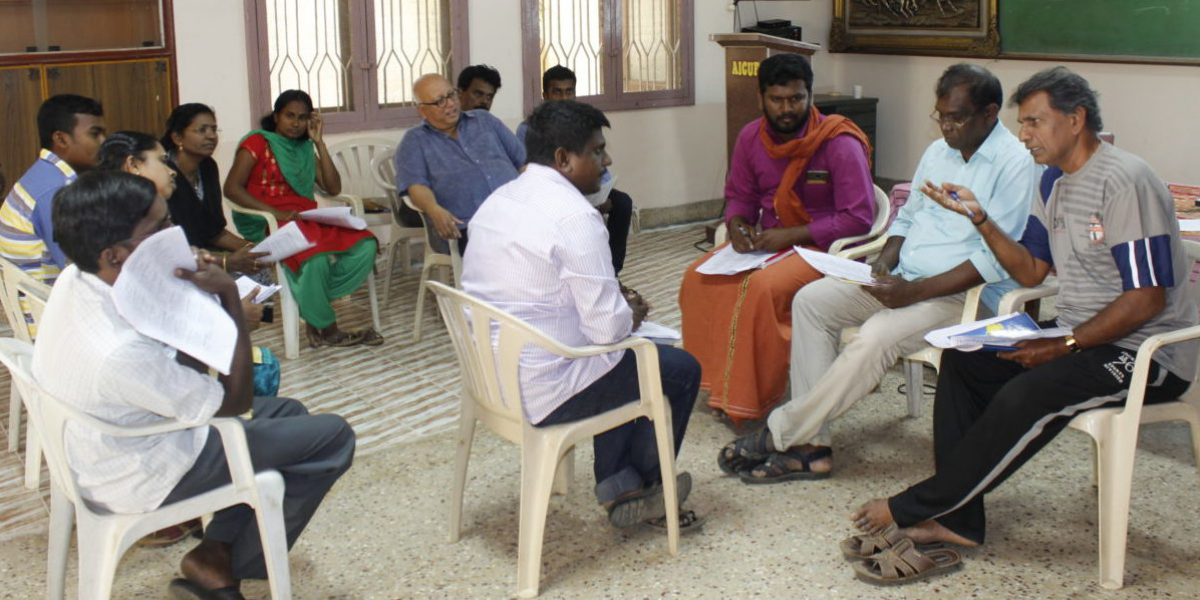 English training for JRS staff in Tamil Nadu, India.