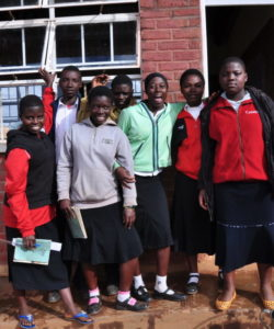Girl students in Malawi