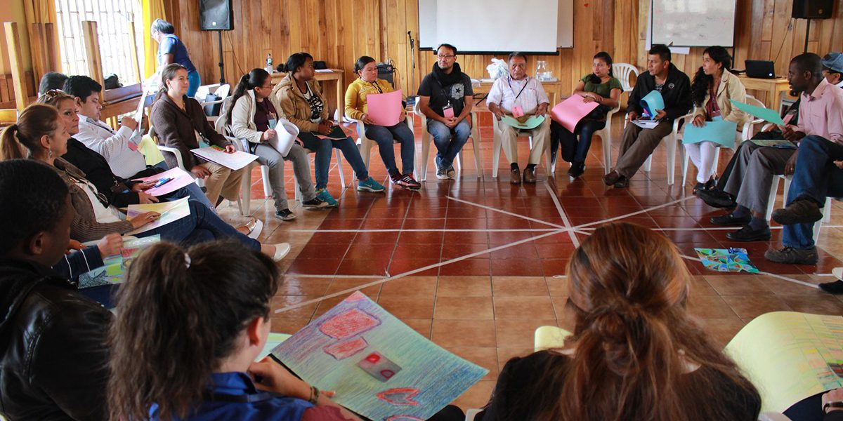 Citizenship classes held by JRS Ecuador to make refugees aware of their rights and how to exercise them.