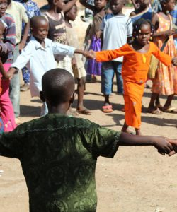 Children play in the Central African Republic