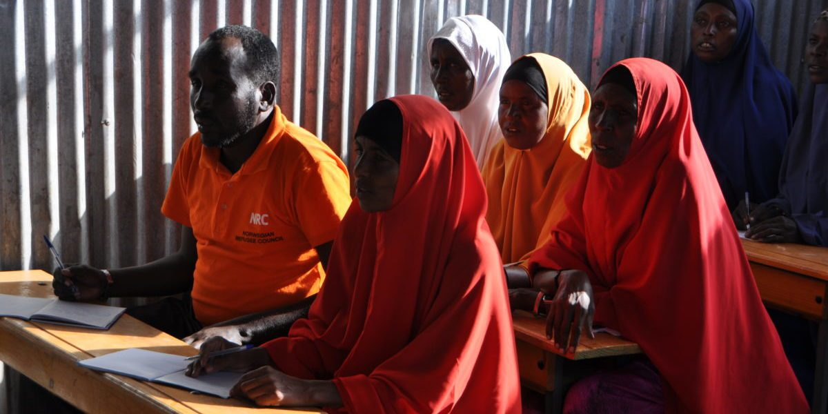 JRS Adult Functional Literacy classes in Melkadida refugee camp.