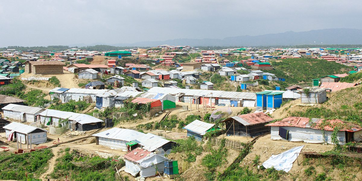 Overview of the Kutupalong refugee camp in Cox's Bazar.