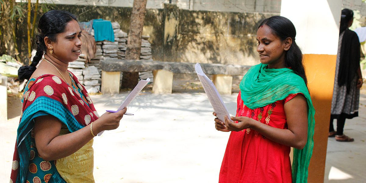 JRS staff attending an English training in Tamil Nadu.
